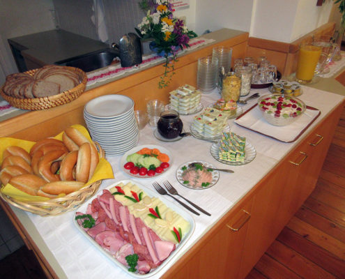 Das Frühstücksbuffet (Marienheim)